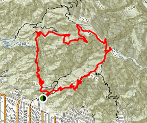 Mount Lukens Via Dunsmore Canyon Map