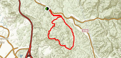 Limestone Canyon and Loma Ridge Loop Map