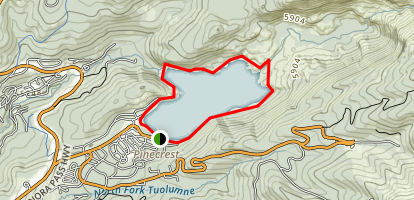 Pinecrest Lake Loop Trail Map
