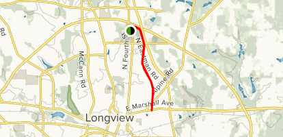 Map Of Texas Longview.Cargill Park Trail Texas Alltrails