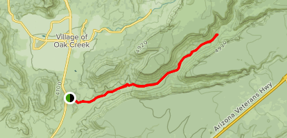 Woods Canyon Trail Map