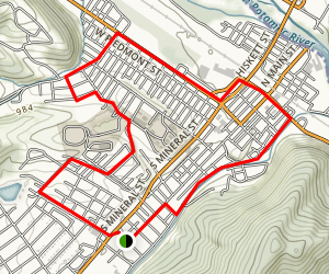 New Creek City Walk Map