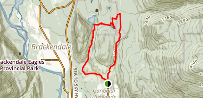 Alice Lakes Map