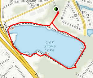 Oak Grove Lake Map