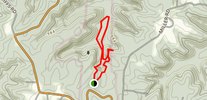 Cantwell Cliffs Loop Map