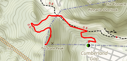 Tri-State Peak Trail Map