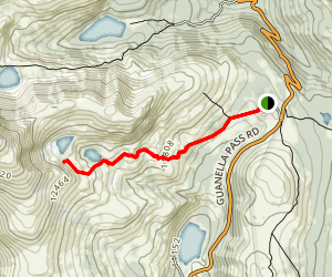 South Park 600 to Square Top Lakes Map