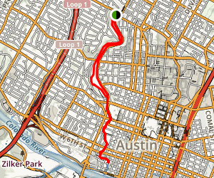 Upper Shoal Creek Trail Map