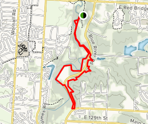 Blue River Parkway and Minor Park Trail Map