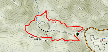 Fry Creek Trail Map