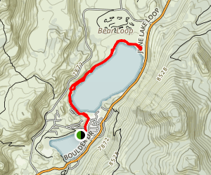 June Lake Trail [PRIVATE PROPERTY] Map