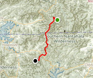 Appalachian Trail: Deep Gap to Dicks Creek Map