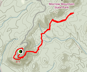 Morrow Mountain Trail Map