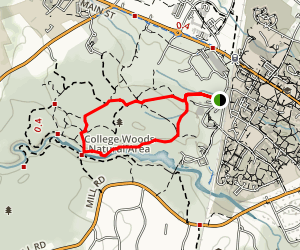 College Woods Natural Area Loop  Map