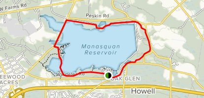 Manasquan Reservoir Map