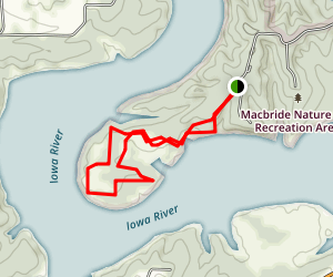 Lake Macbride Nature Recreation Area Map