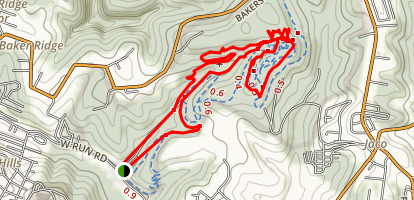 Bakers Ridge Trail Map