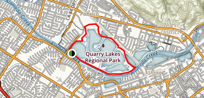Quarry Lakes Regional Recreational Area Map