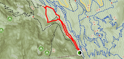 Gravel Pit and South Crest Loop Trail to Kiwanis Cabin Map