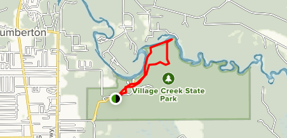 Village Creek Trail - Village Creek State Park Map