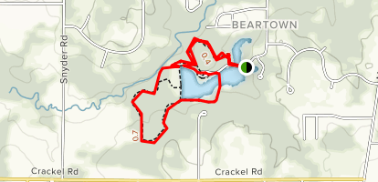 Beartown Lakes Reservation Map