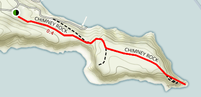 Chimney Rock Trail Map