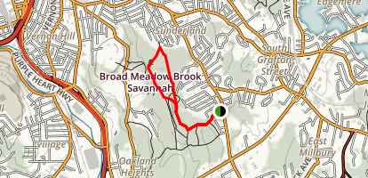 Broad Meadow Brook Trail Map