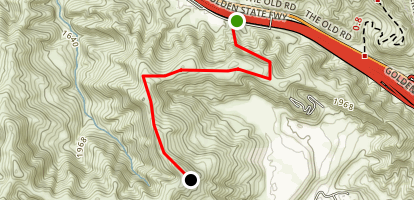 Newhall Pass: Weldon Canyon Trail Map