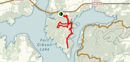 Sequoyah State Park: Red Section Map