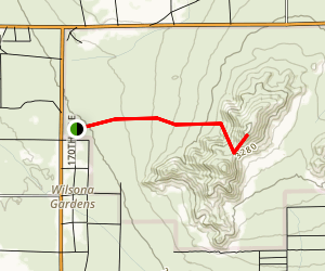 Saddleback Butte Trail Map