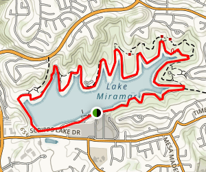 Lake Miramar Trail Map