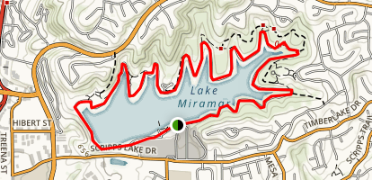 Lake Miramar Trail California Maps Photos Reviews - Us map of lakes