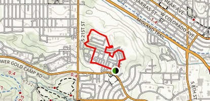 Gold Hill Mesa Trail Map