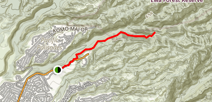 Waimano Trail lower Map