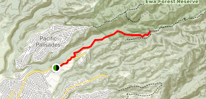 Waimano Trail: Lower Section Map