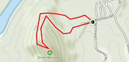 Smith Mountain Fire Tower Trail Map