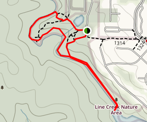 Line Creek Nature Area Map