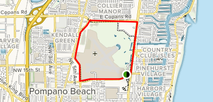 A1A 2 Mile Loop Trail Map