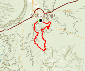 Flaming Gorge: Rock Springs to Flaming Gorge Dam Trail Map