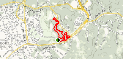 Ft. Benning Fitness Trail Map