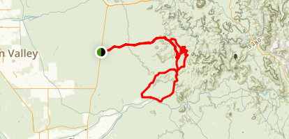 Martinez Cabin Trail Map