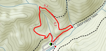 Juney Whank Falls Trail Map