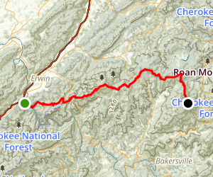 Appalachian Trail: Nolichucky River to Iron Mountain Gap Map