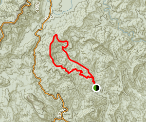 Avery Creek Trail and Buckwheat Knob Trail Map