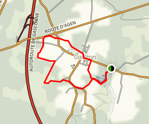 The Gaillères Airial Loop Trail Map