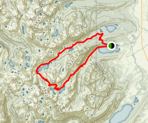 Pettit and Toxaway Lakes Loop Map