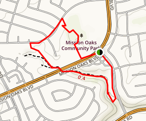 Mission Oaks Community Park Trail Map