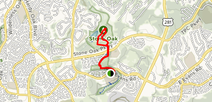 Stone Oak South and North Trail Map