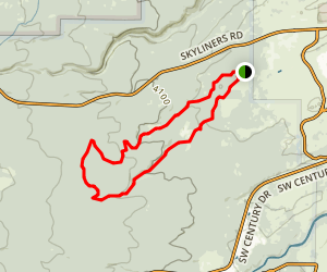 Phil's Trail - Kent's Trail Loop Trail Map