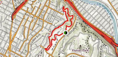 Elysian Park West Loop Trail Map